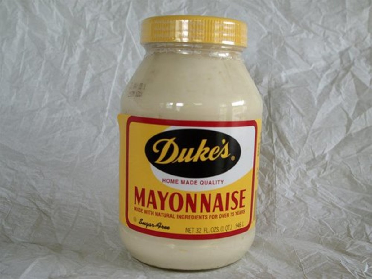 Duke's mayonnaise is the best! It's made in Greenville, South Carolina.
