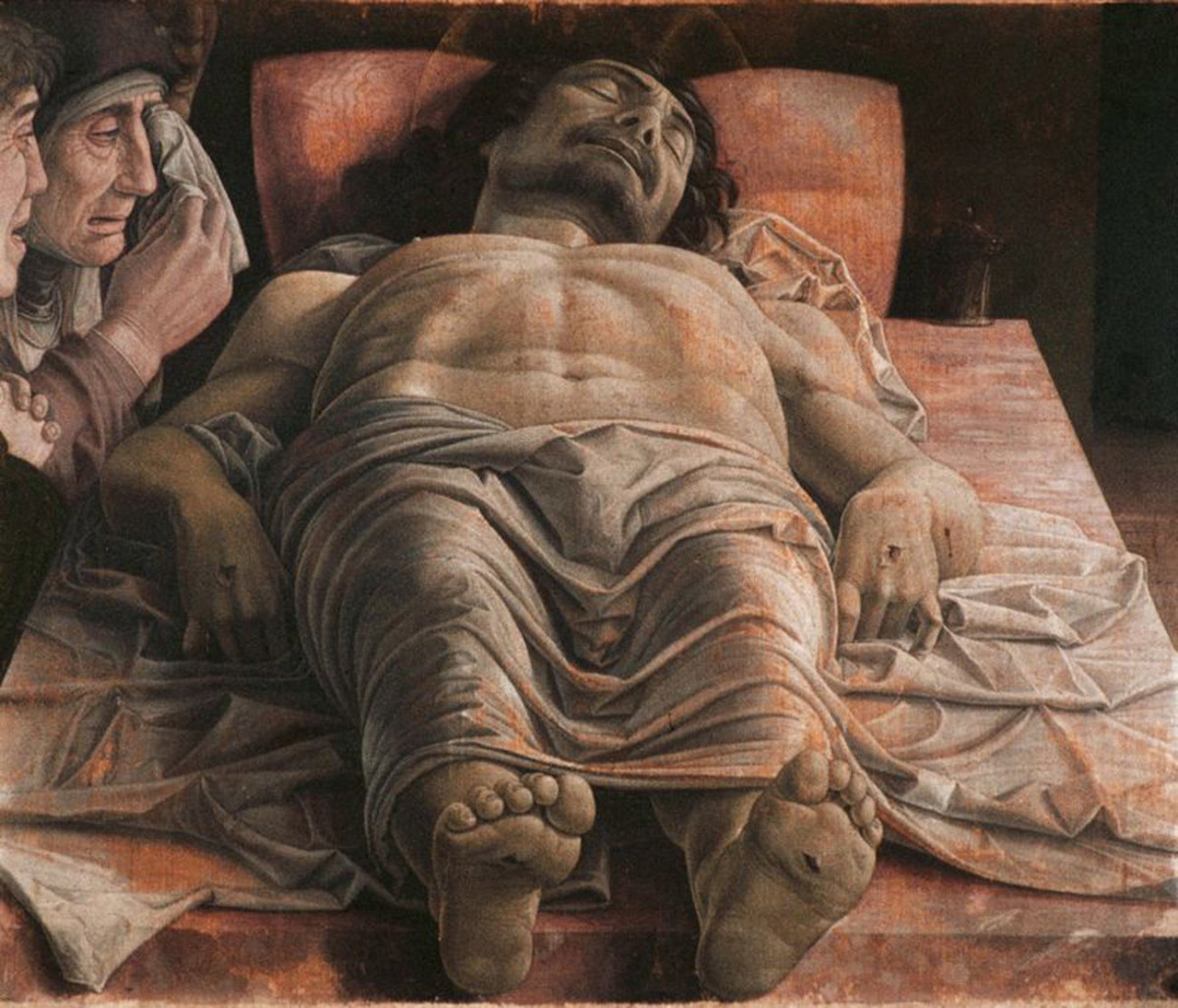 "Example of Drapery in Painting: Andrea Mantegna's ""Dead Christ"""