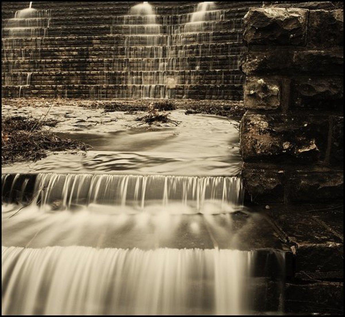 Near Okmulgee State Park, the Okmulgee Lake spillway is an engineering marvel.