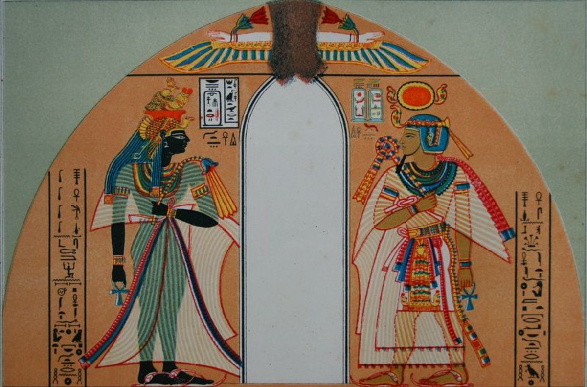Queen Ahmose Nefertari and Amenhotep I