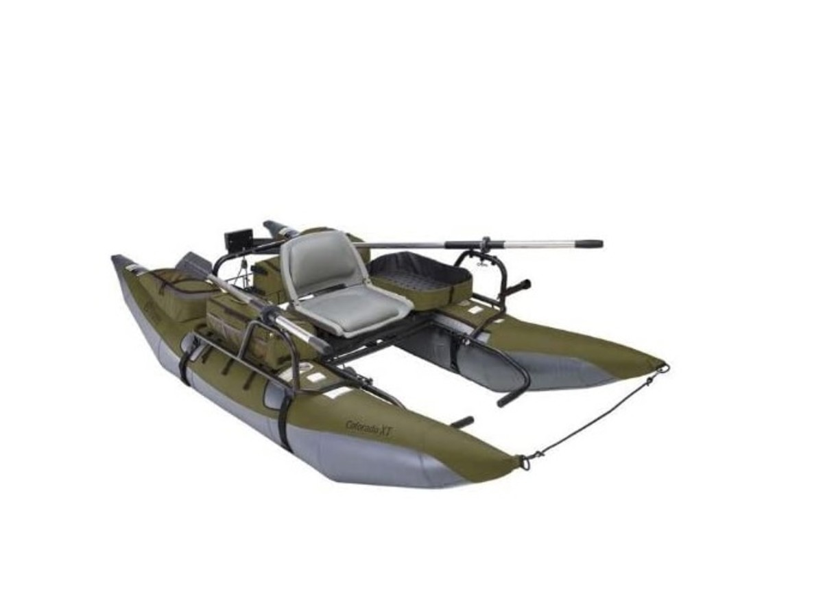 It all started with this simple fishing pontoon.