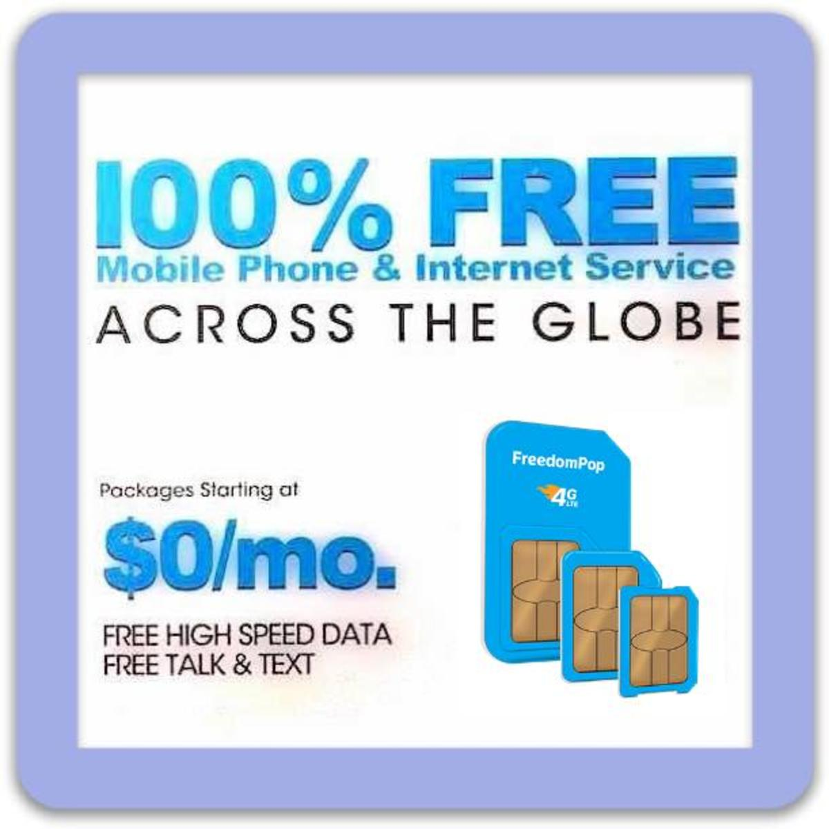 How to Get Free Cellular Service from FreedomPop with No Billing
