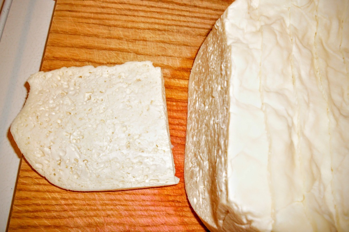 Fresh queso blanco. While technically mild flavored, this cheese has character.