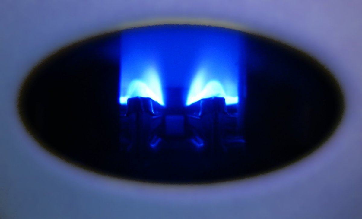Your pilot light should be sky blue in the middle and dark blue in the outer flame.