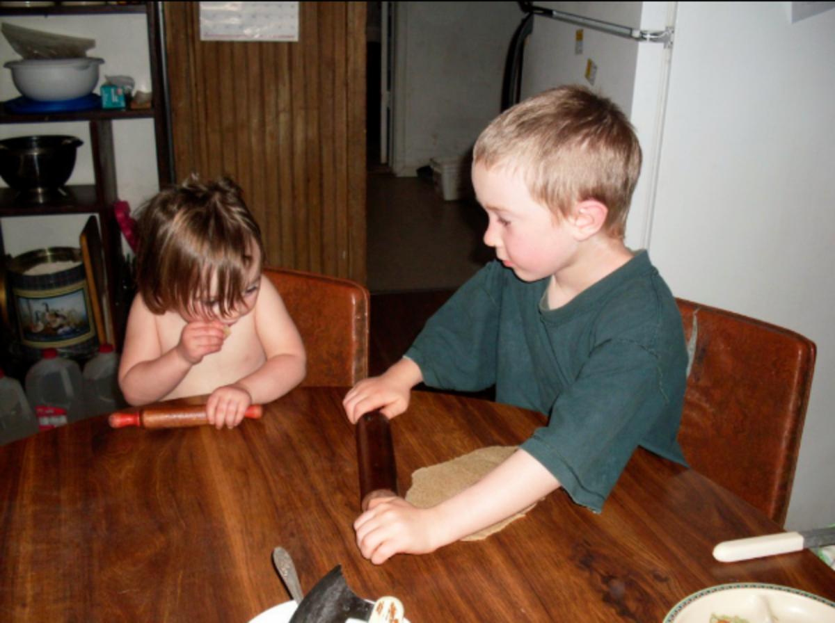 Using Bread Before Playdough: Purposeful Play, Plus a Recipe for Pizza Crust