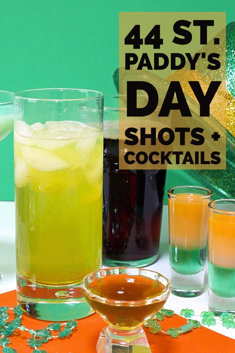 44 St Patrick's Day Shots, Shooters, and Cocktails