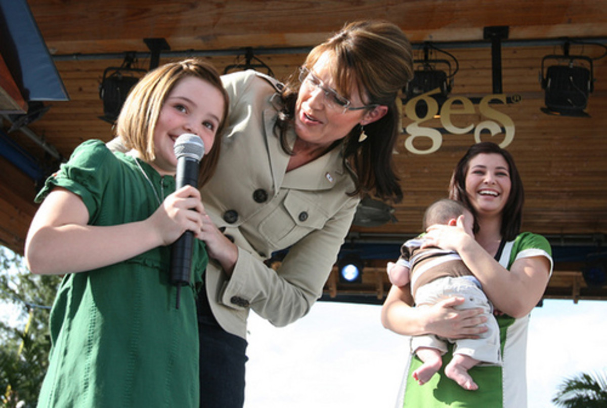 Sarah Palin and her family became heroes in the pro-life community when Sarah DID NOT abort their baby, Trig, diagnosed with Down Syndrome before he was born.