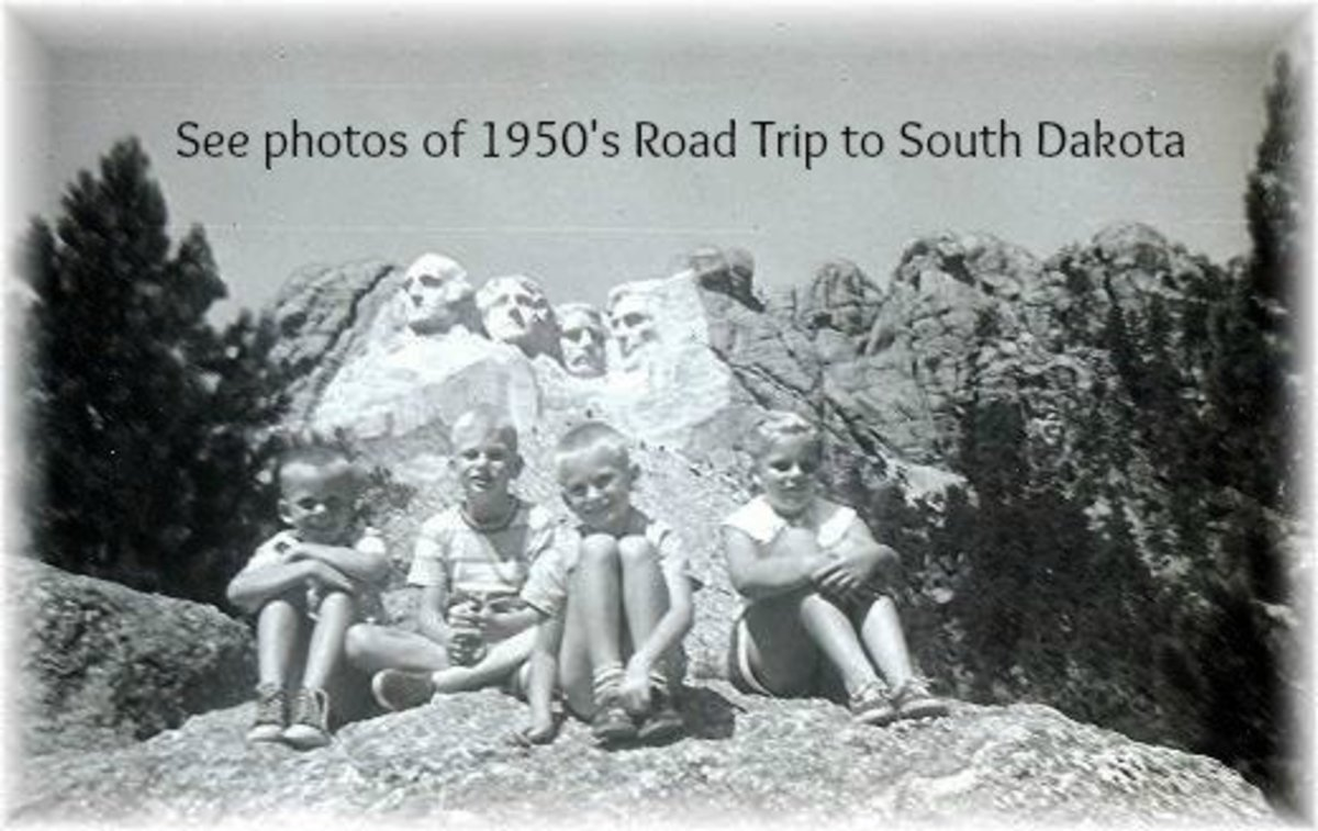 South Dakota Road Trip Vacation in the 1950s With Family Photos
