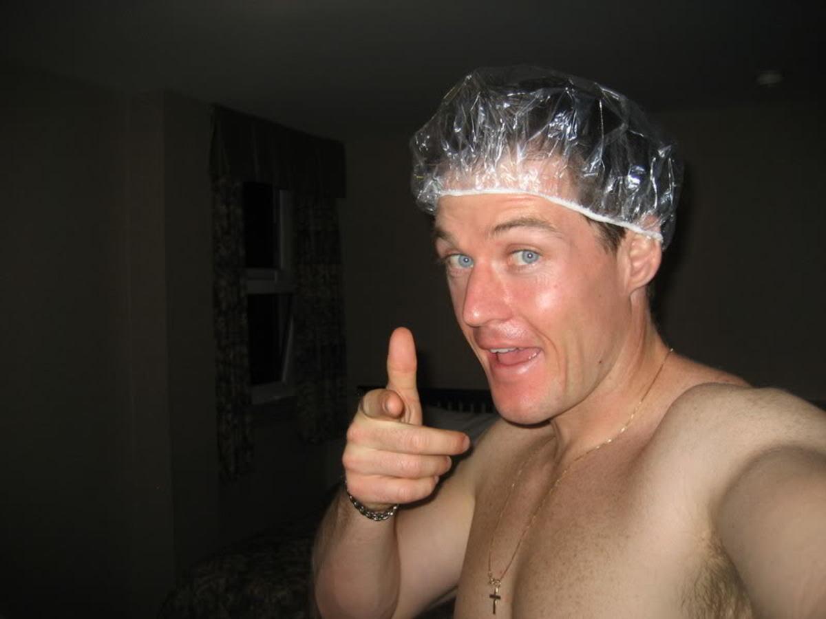 Older nude people shower