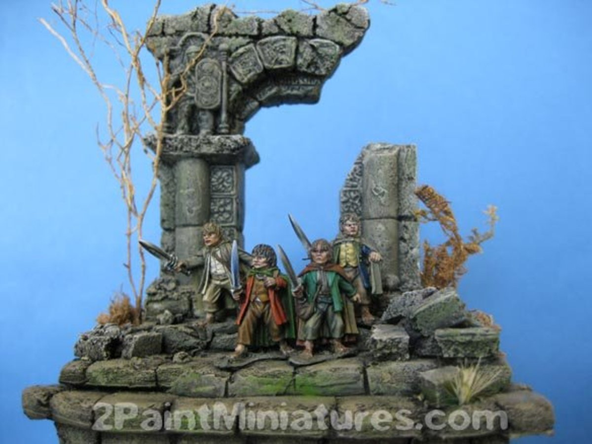How To Paint Realistic Stone For Miniatures Hubpages