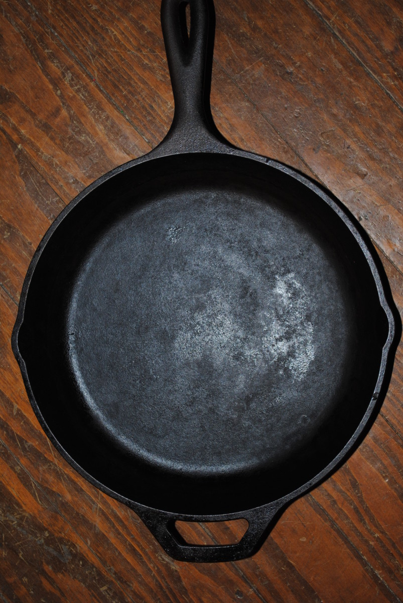 A perfectly seasoned cast iron pan. Oooo - A thing of beauty and wonder!