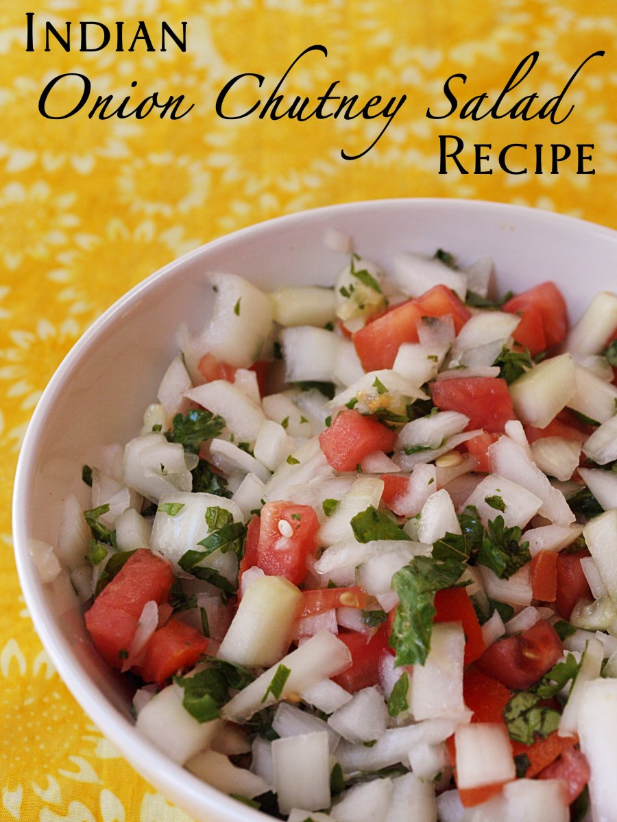 Discover how to make a tasty Indian onion salad or chutney.