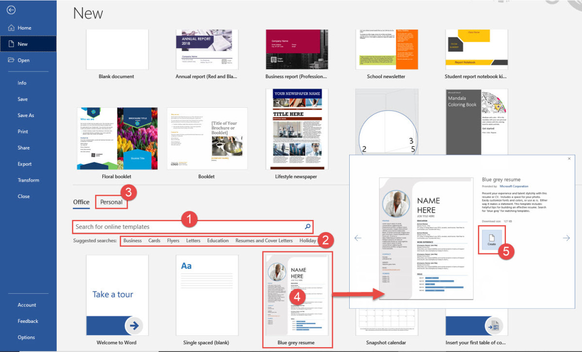 Microsoft Word 365 Templates