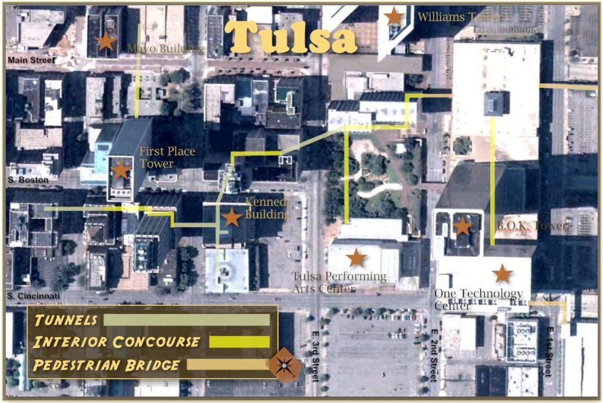 Downtown Tulsa Underground Tunnels