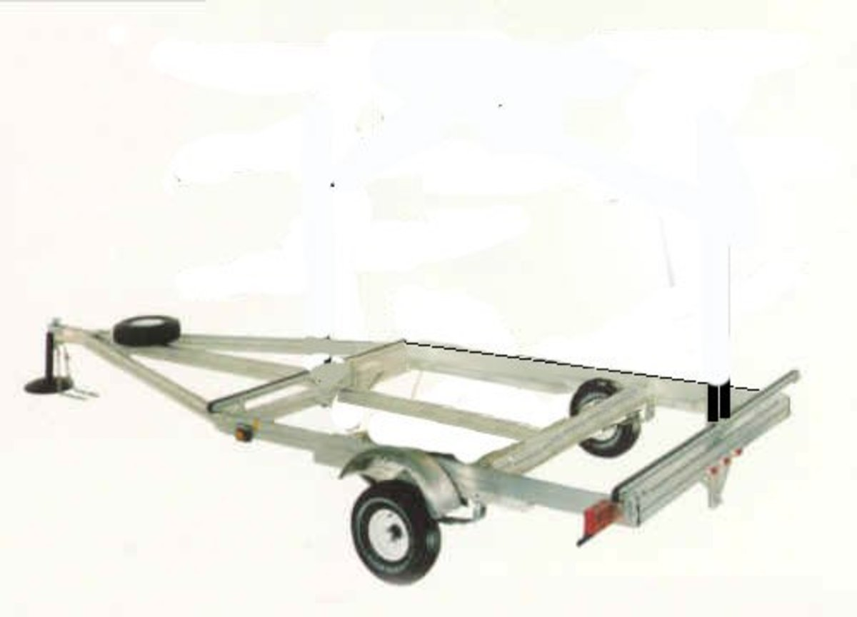 Home-Built Canoe or Kayak Trailer