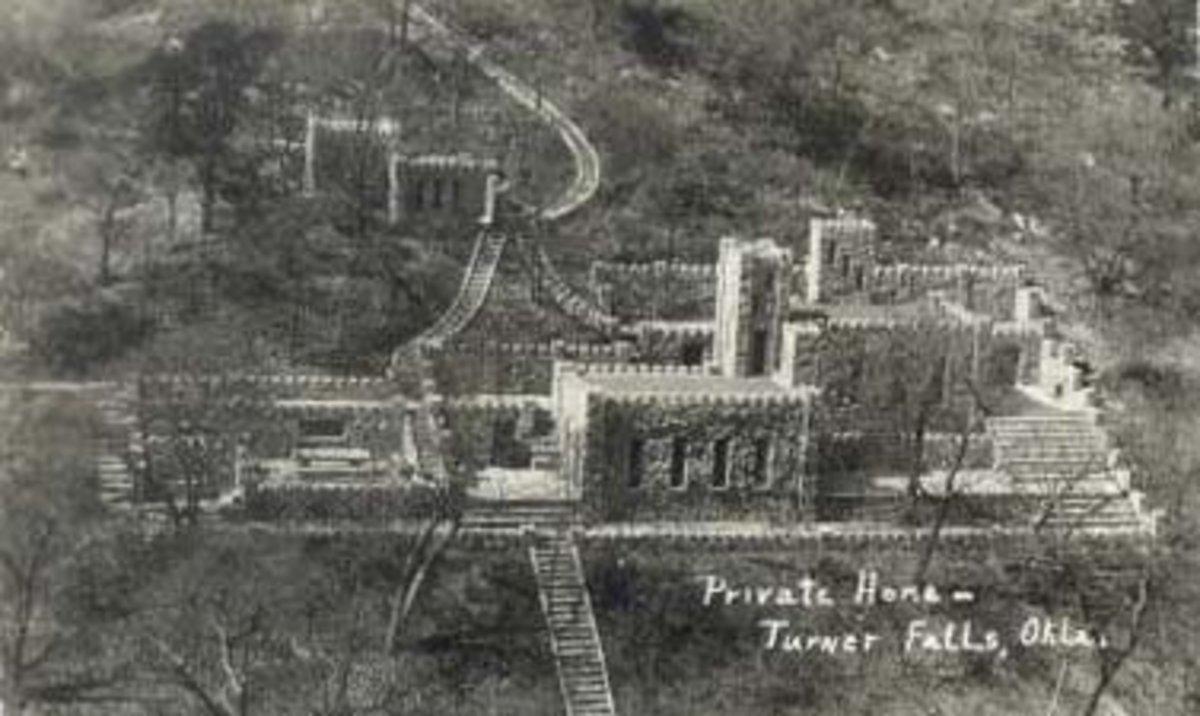 Collings Castle in Turner Falls, Oklahoma.