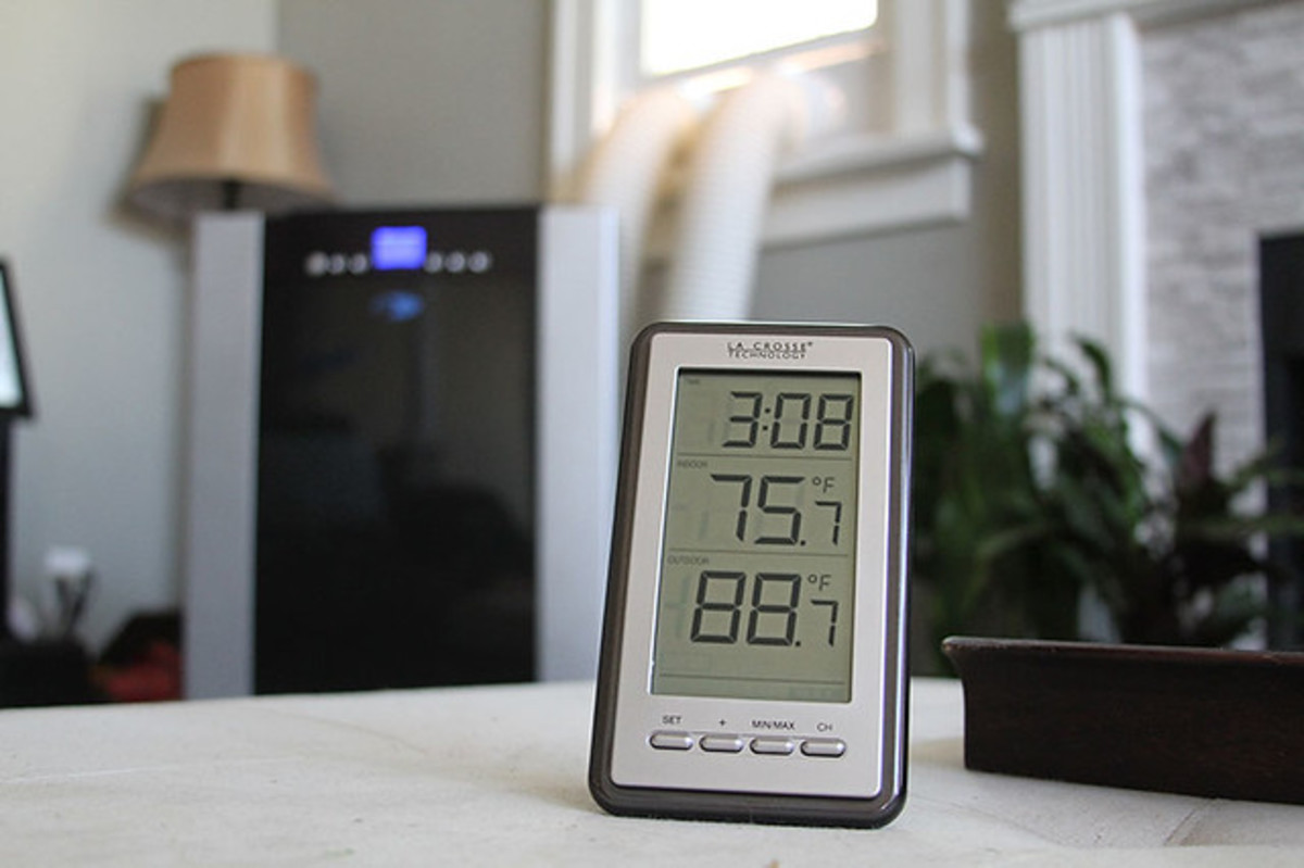 Once installed, indoor-outdoor thermometers allow you to keep tabs on temperature conveniently.