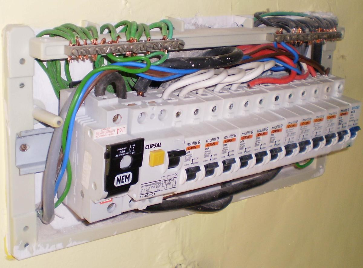 House Electric Panel Exposed