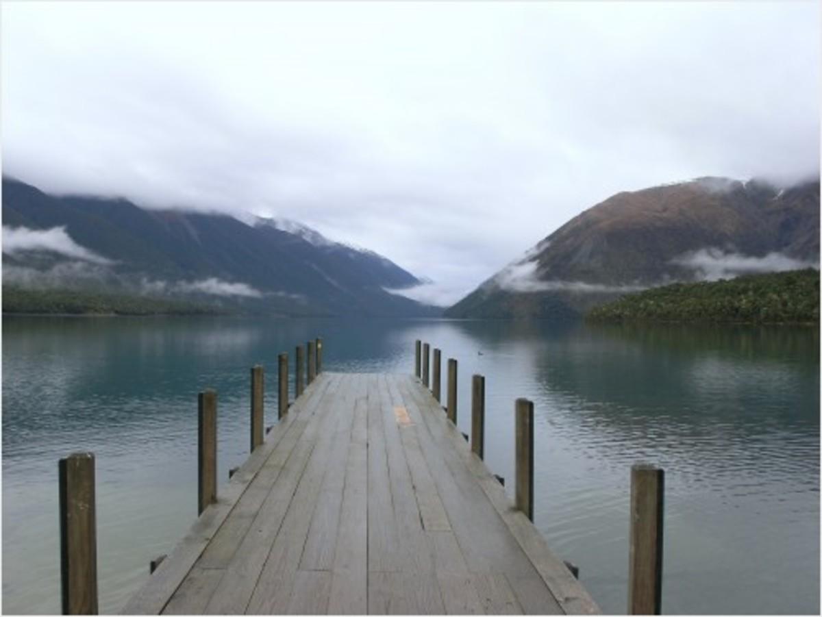 New Zealand Lakeside near Milford Sound