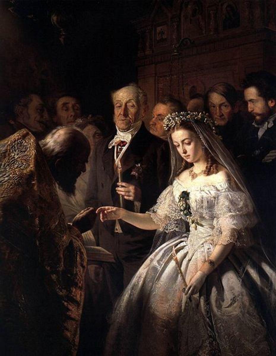 """The Arranged Marriage"", 1862 painting by Vasili Pukirev"
