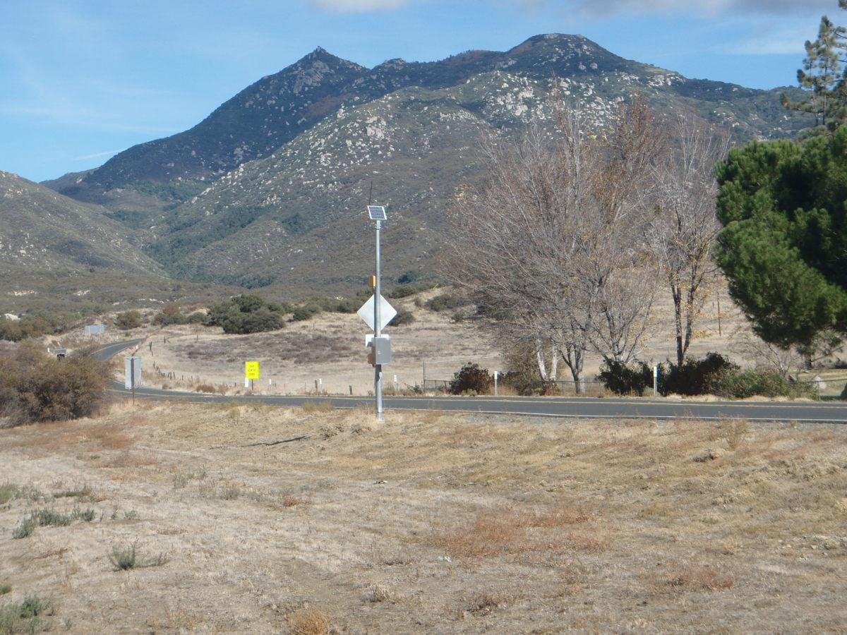 Hot Springs Mountain from Warner Springs.