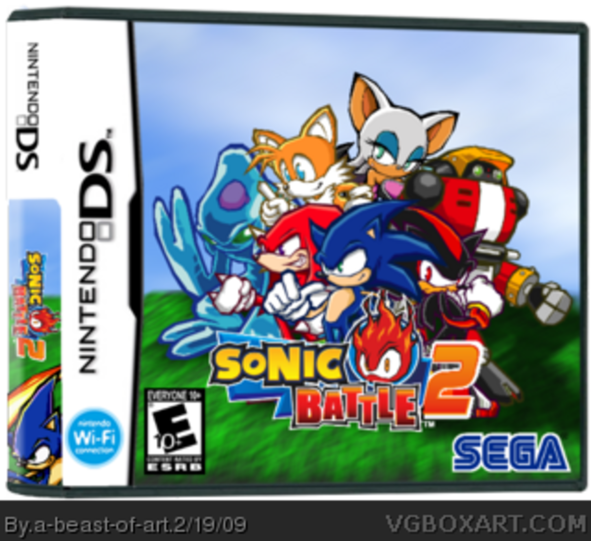 Sonic Battle 2 Box Art by a-beast-of-art