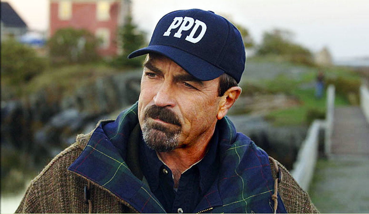 Tom Selleck as Jesse Stone the Police Chief of Paradise.