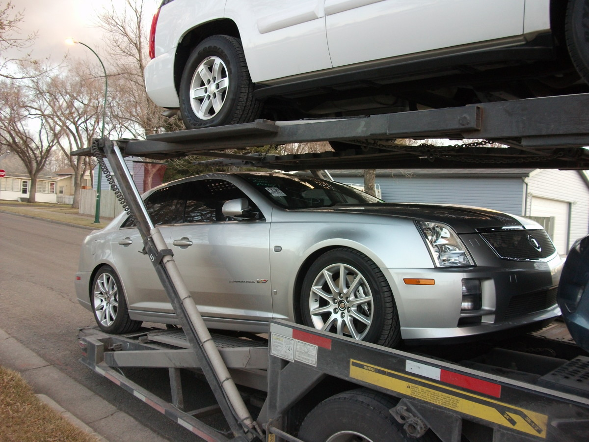 Cadillac STS-V with a supercharged 4.4 L version of the Northstar V8.