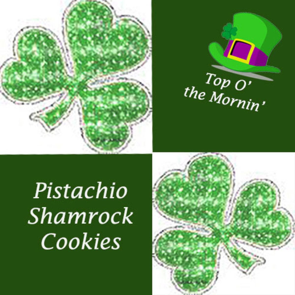 Pistachio Shamrock Cookies