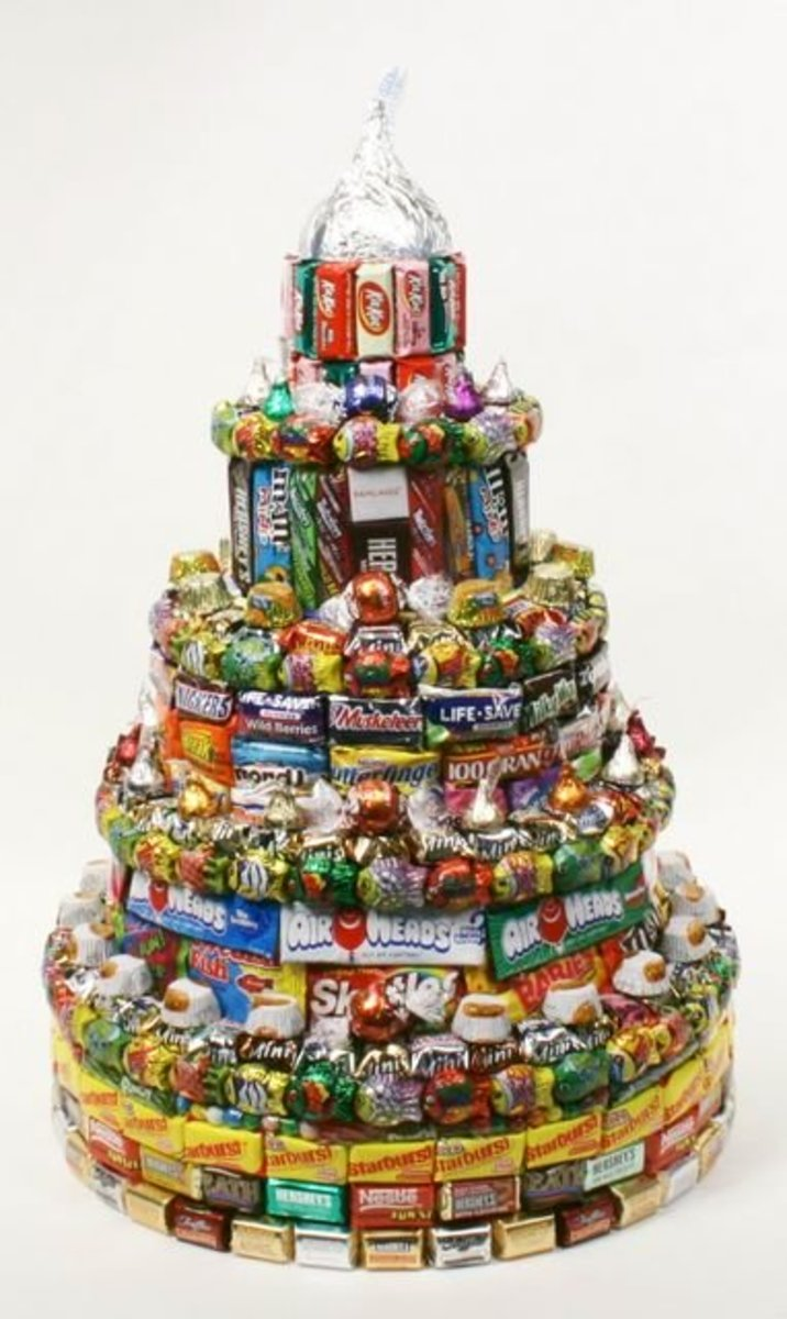 Birthday Cake Made of Candy