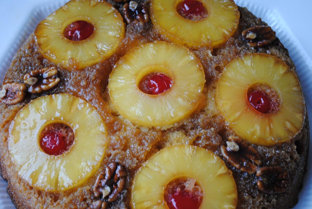 Fresh Pineapple Upside Down Cake Cast Iron Skillet