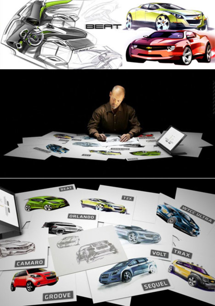How car designers work in a Design studio. Design process.