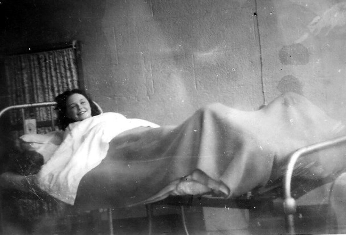 A Tuberculosis patient in a TB Hospital in   1948 in Ireland