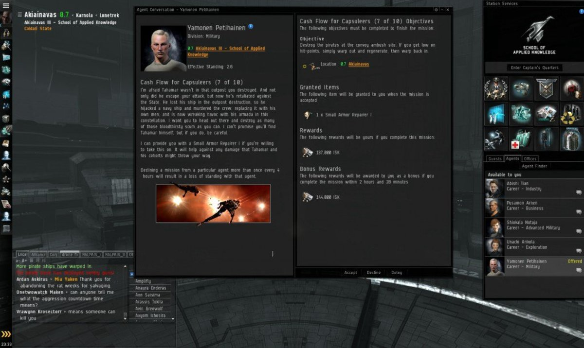 """""""EVE Online"""" Military Arc Guide: Cash Flow For Capsuleers (7 & 8)"""