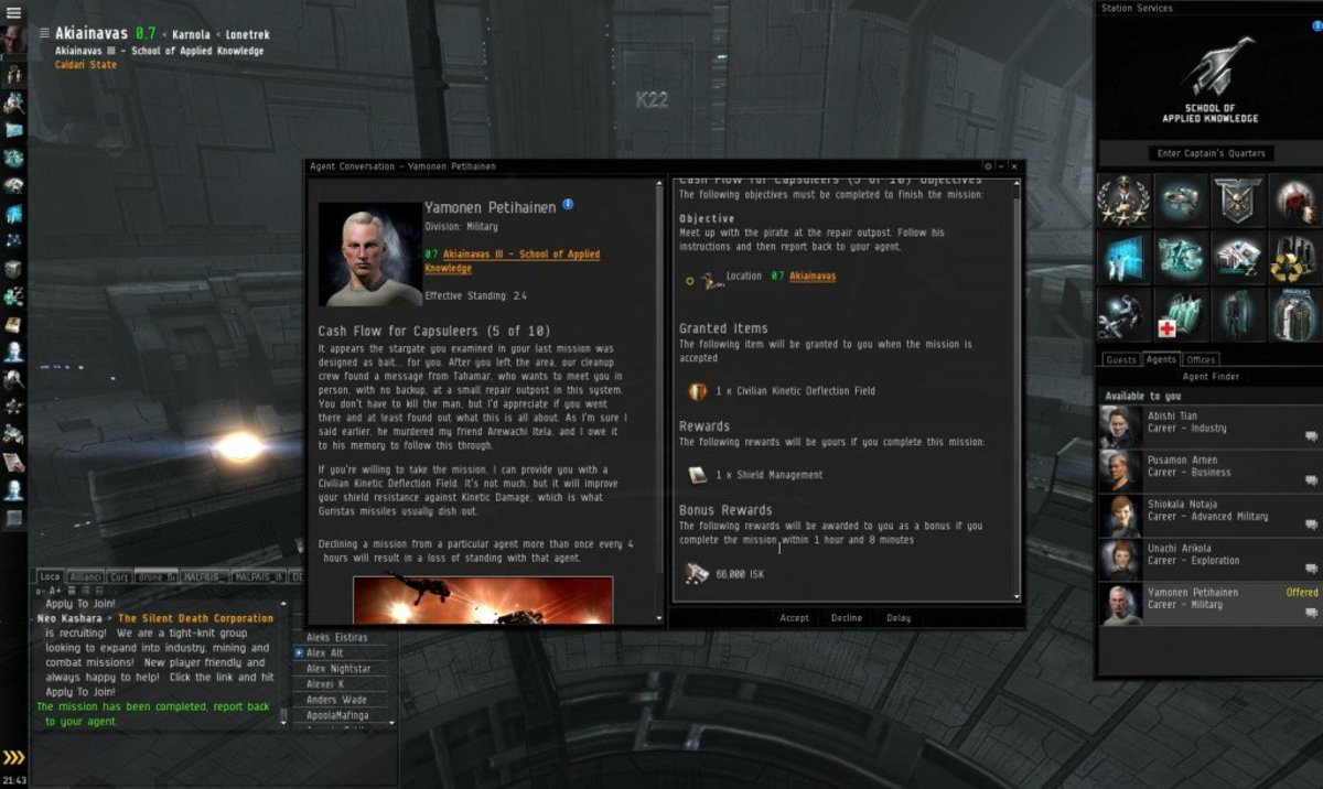 """""""EVE Online"""" Military Arc Guide: Cash Flow For Capsuleers (5 & 6)"""