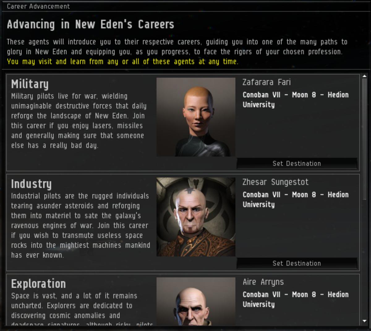 """""""EVE Online"""" Career Arcs Guide: Mission Index"""