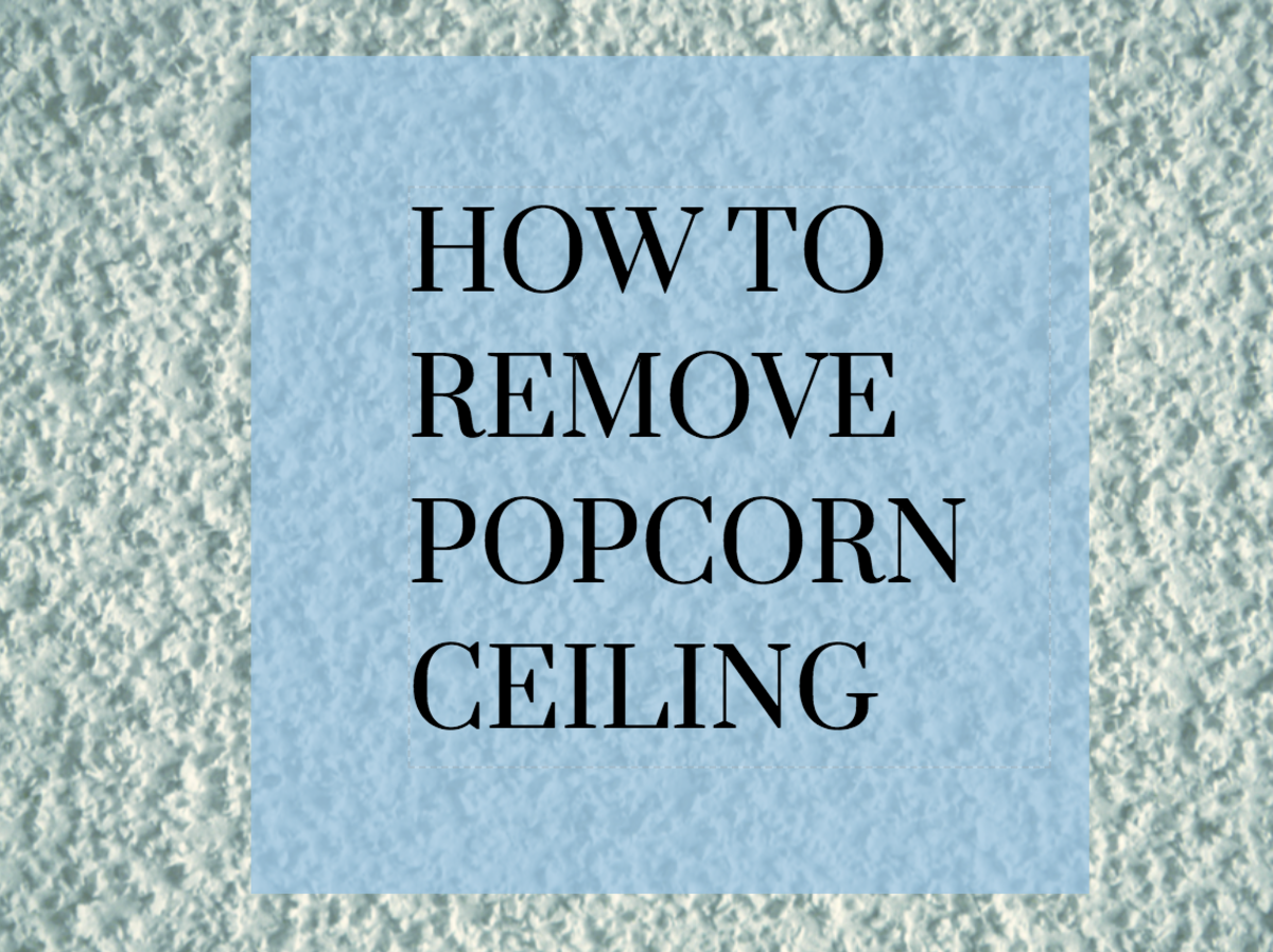 Unpainted And Painted Popcorn Ceilings