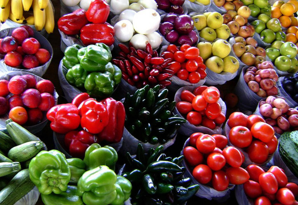 Beautiful produce.  Rich color can be a predictor of foods rich in antioxidants.
