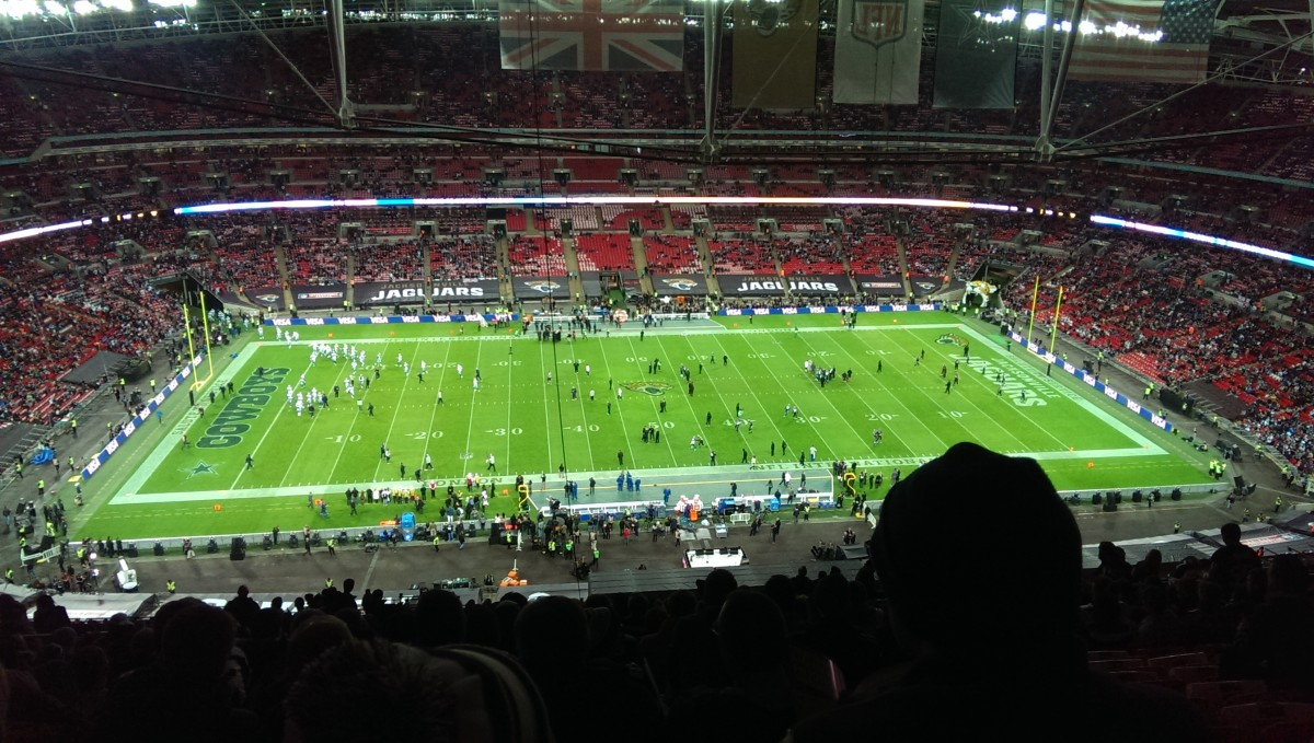 Dallas Cowboys vs Jacksonville Jaguars (NFL International Series) at Wembley Stadium, 2014.