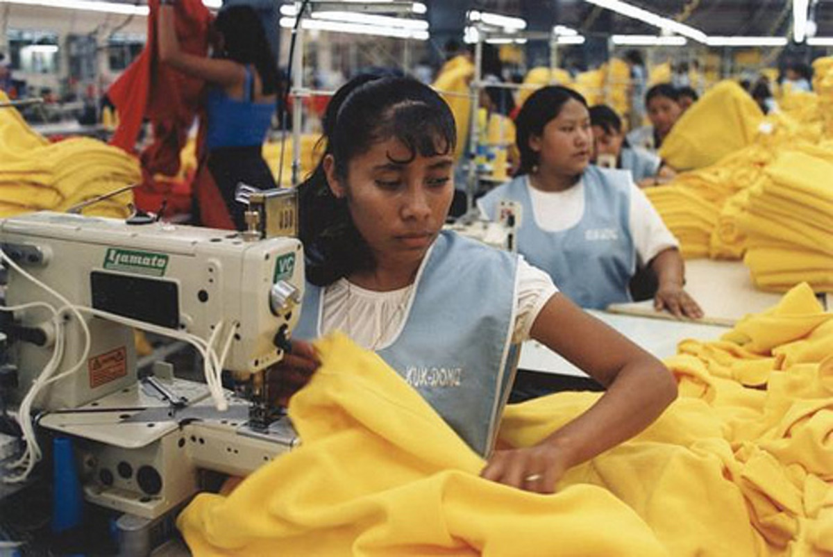 Off-shore child labor is often used in sweatshops.