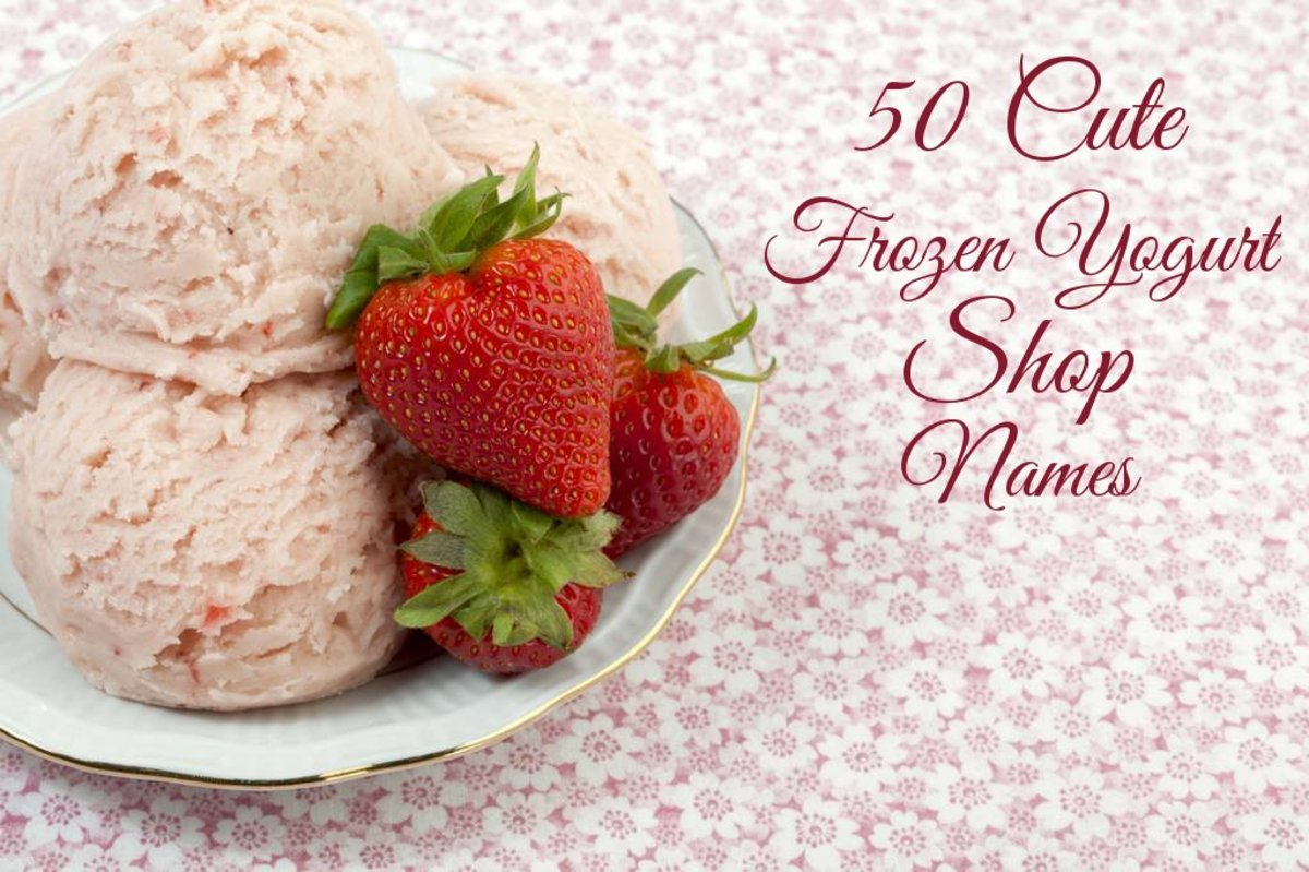 50 Cute Frozen Yogurt Shop Names