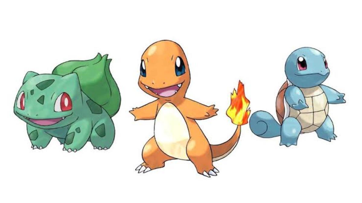 Generation 1 Pokémon Starters