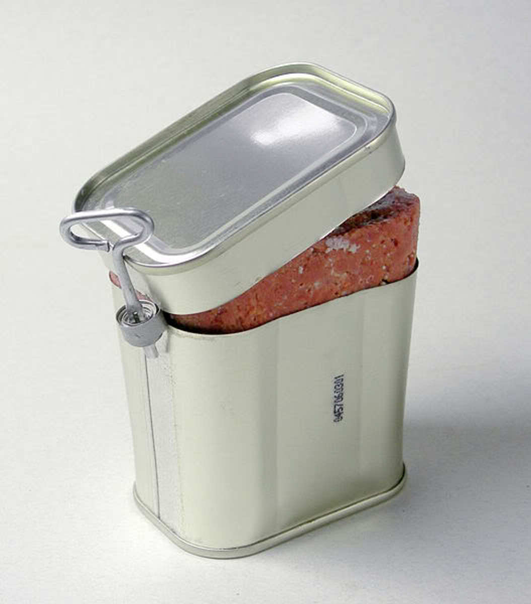 Corned beef in a can.