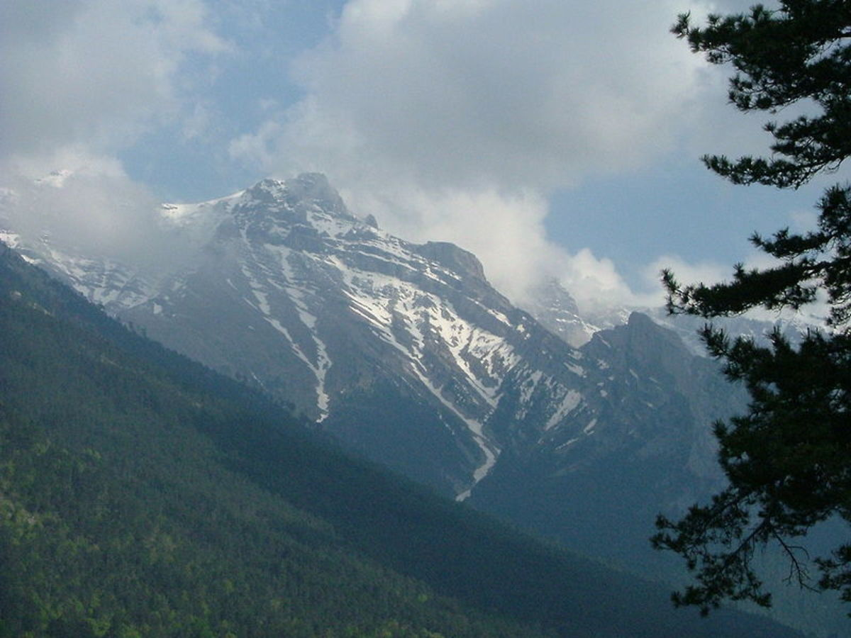 Mount Olympus, home of the gods and goddesses of ancient Greece.