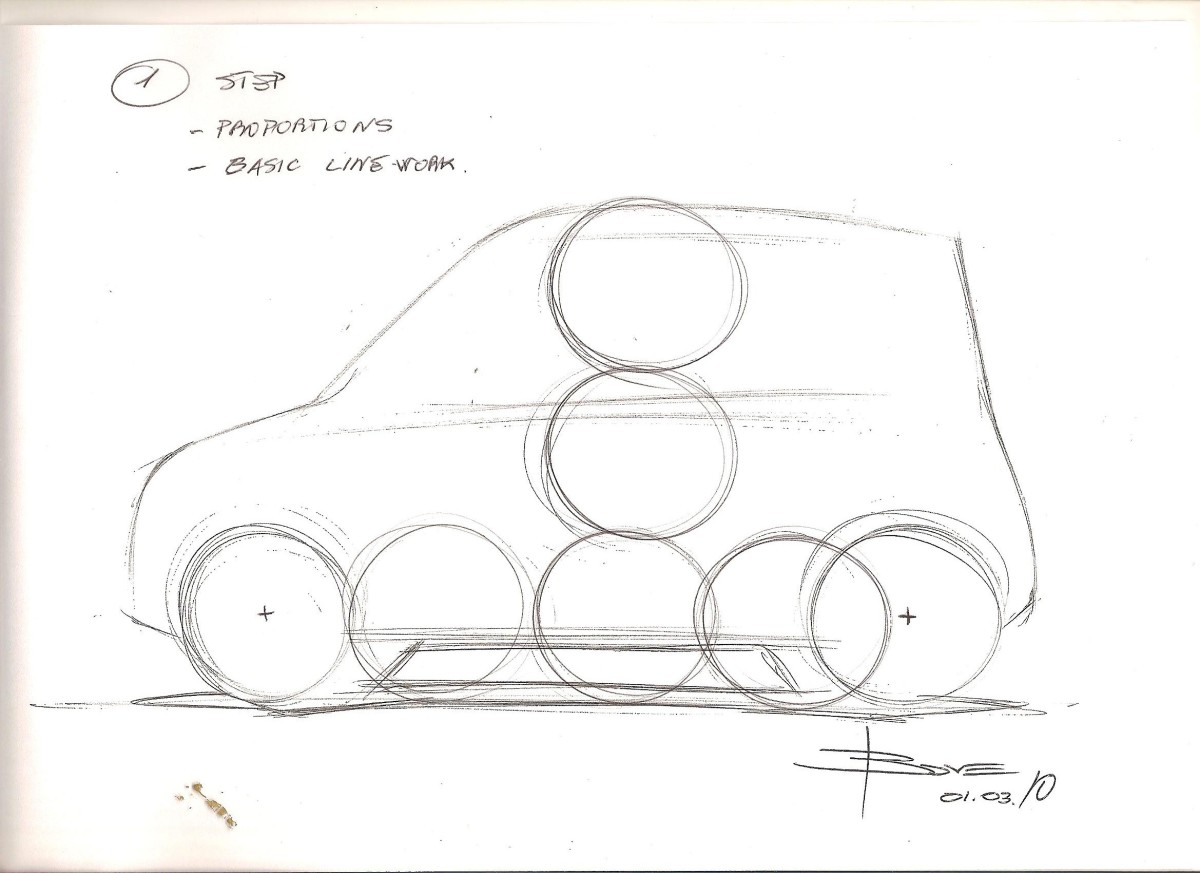 How to Draw a Simple Side View Car Sketch: Basic Steps