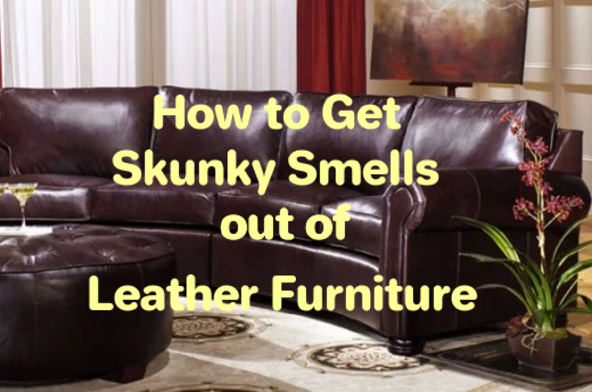 How to clean leather. leather smell cures