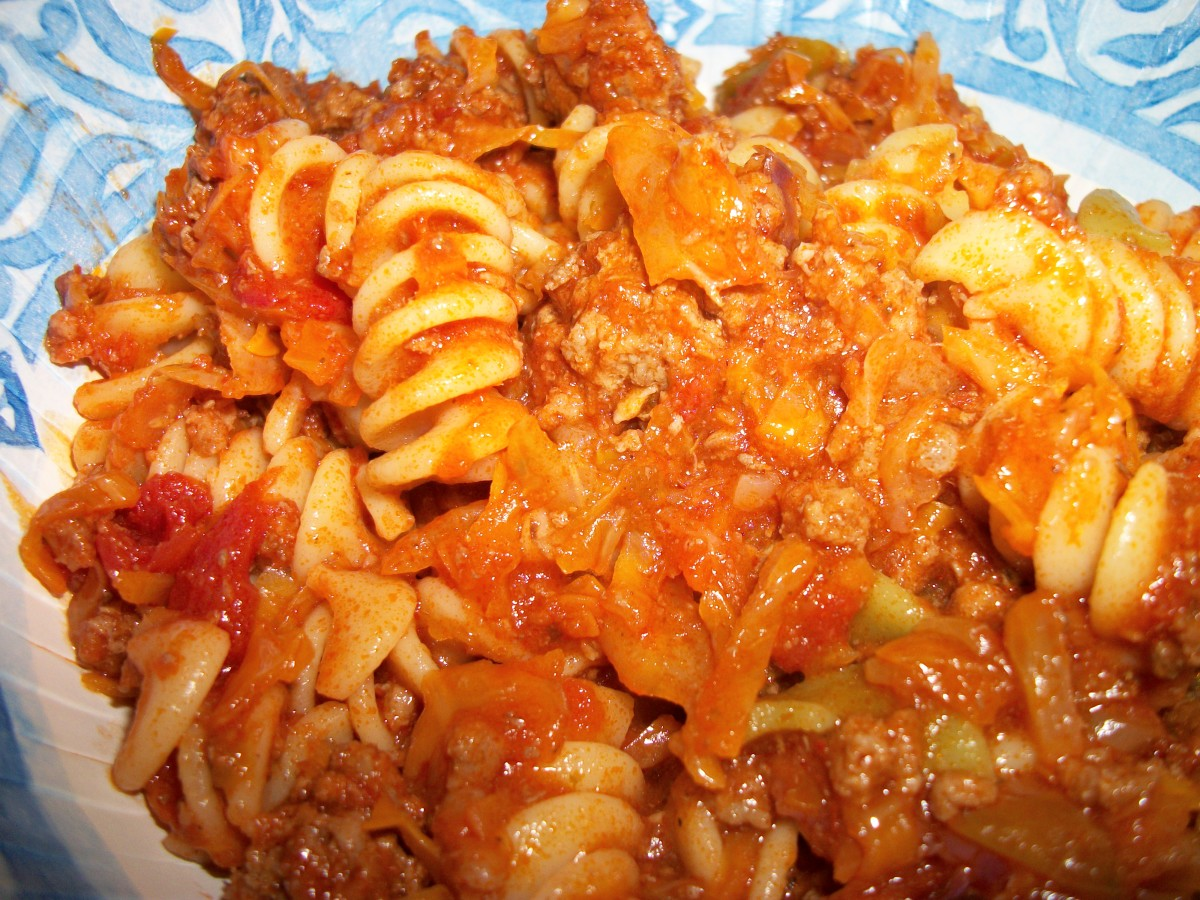 One of my favorite Weight Watchers recipes, Beef, Cabbage and Pasta