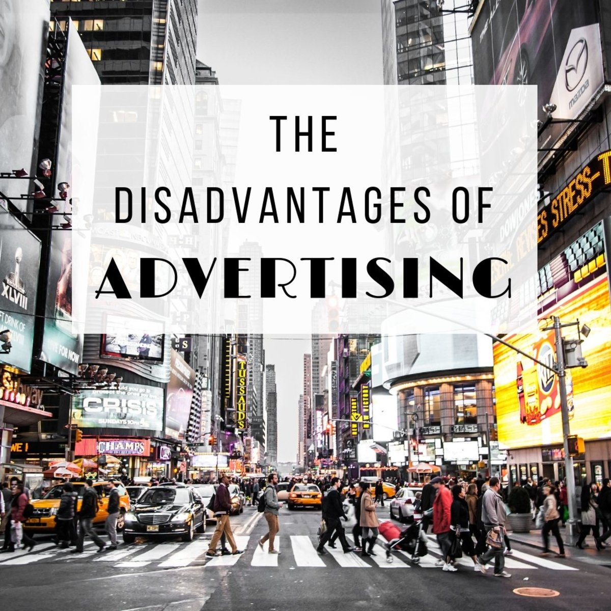 What are the disadvantages of advertising?