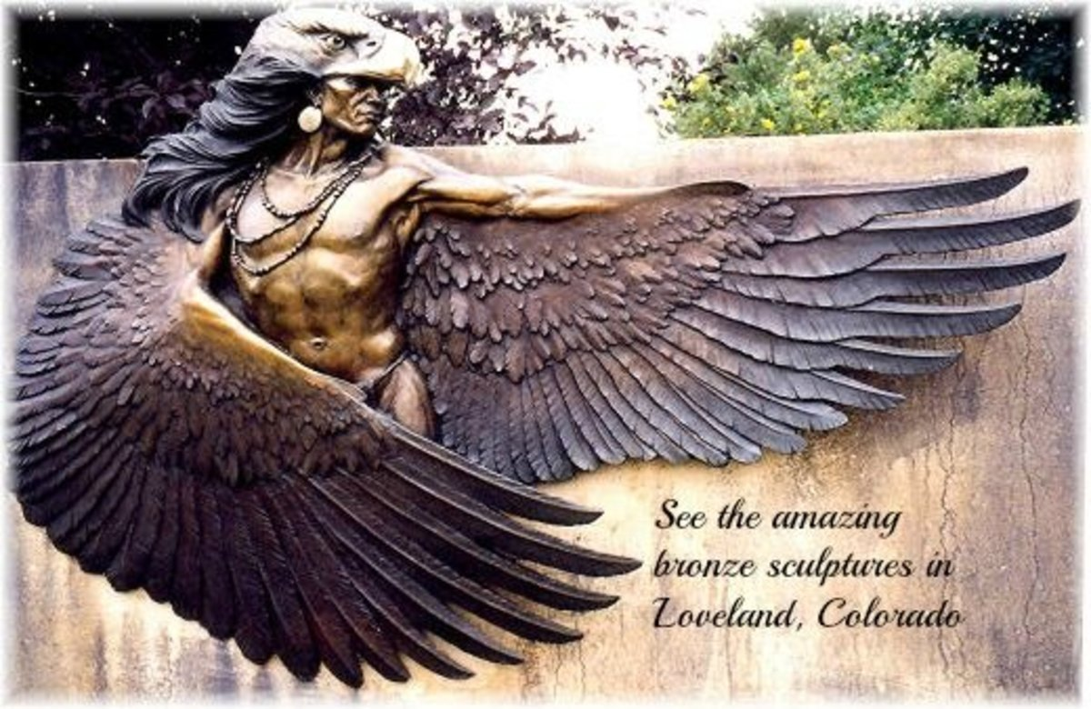 One of the many sculptures found in Benson Park of Loveland, Colorado