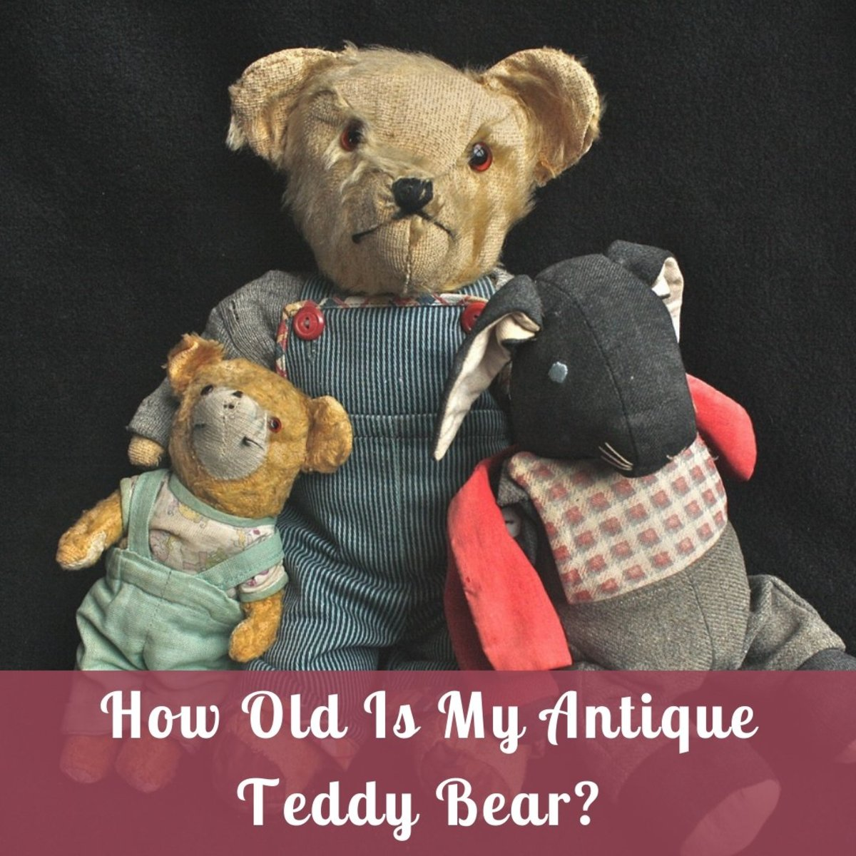 When buying vintage or antique teddy bears, it is important to learn the identifying features that help to date them.